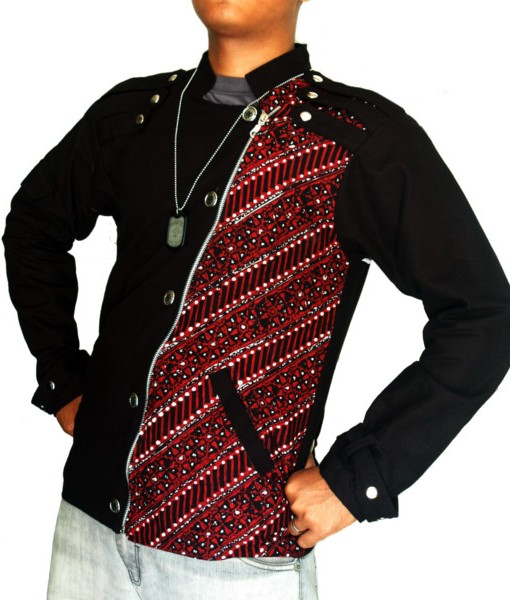 Red Military Jacket JA-1006 1